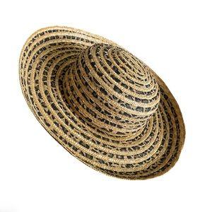August Cheetah print straw hat